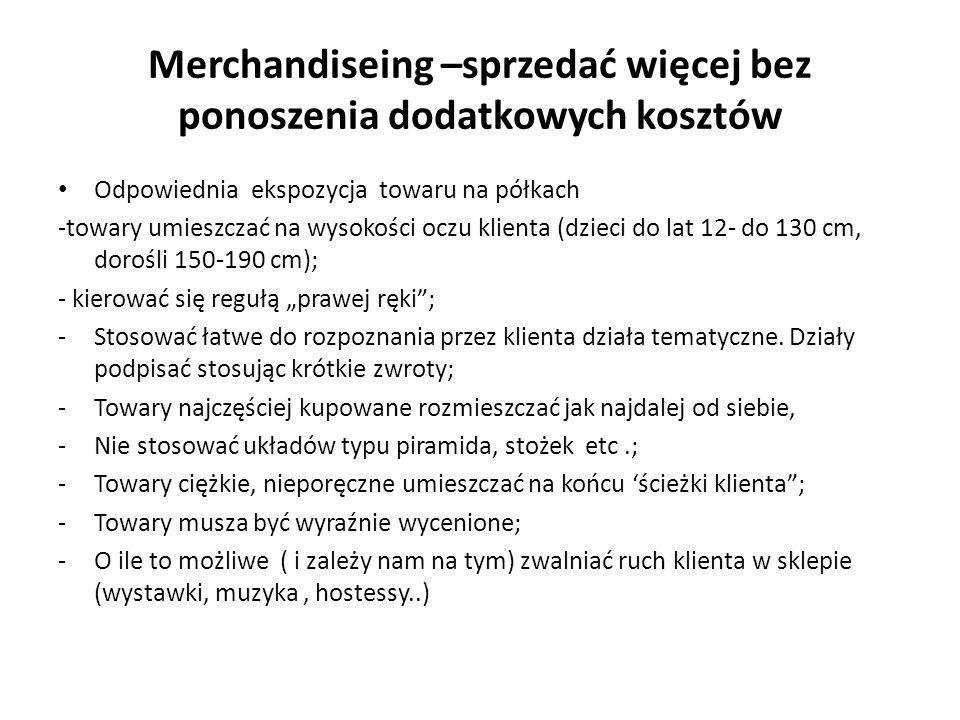 Merchandiseing –sprzedać więcej bez ponoszenia dodatkowych kosztów