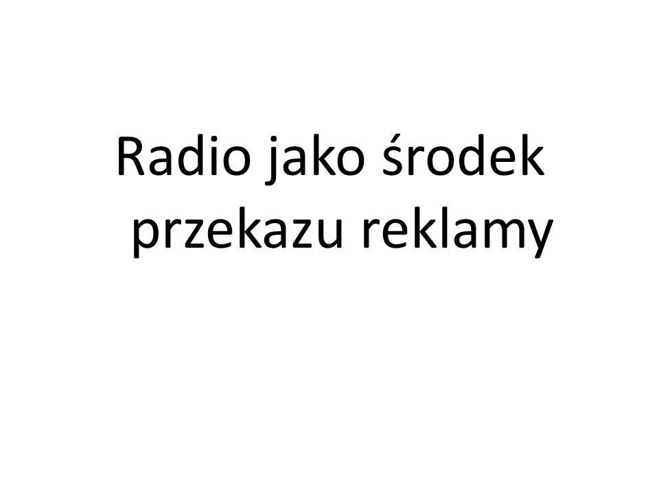 Radio jako środek przekazu reklamy