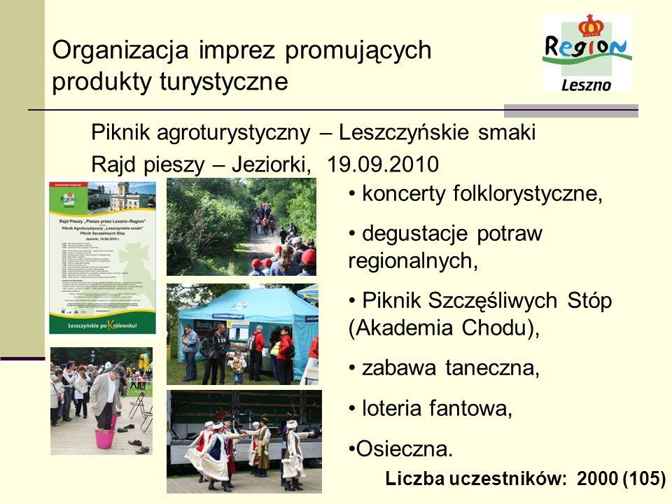 Organizacja imprez promujących produkty turystyczne
