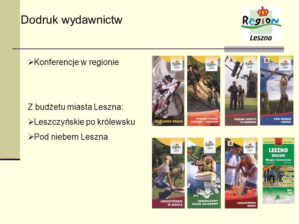 Dodruk wydawnictw Konferencje w regionie Z budżetu miasta Leszna: