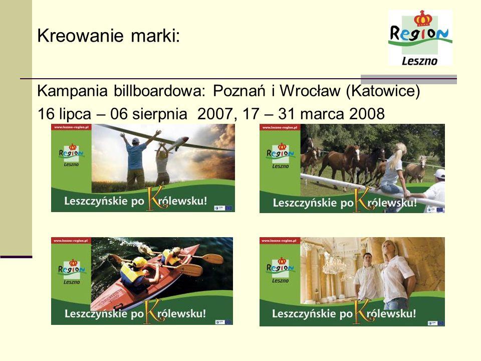 Kreowanie marki: Kampania billboardowa: Poznań i Wrocław (Katowice)