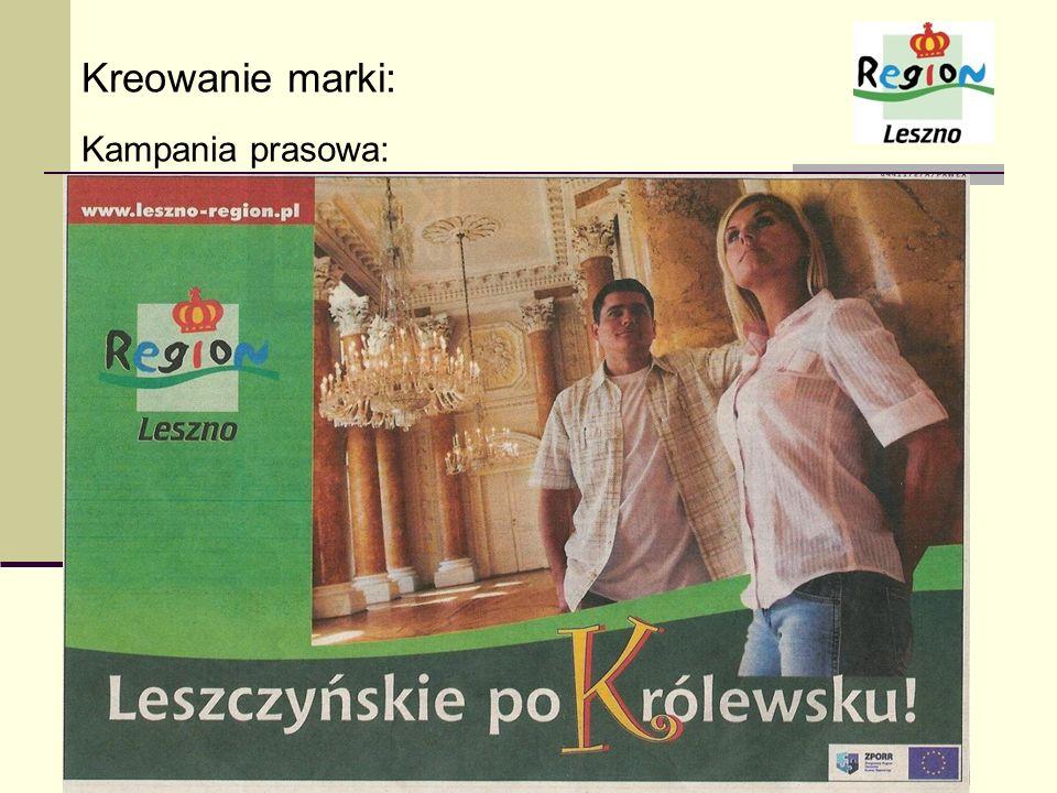 Kreowanie marki: Kampania prasowa:
