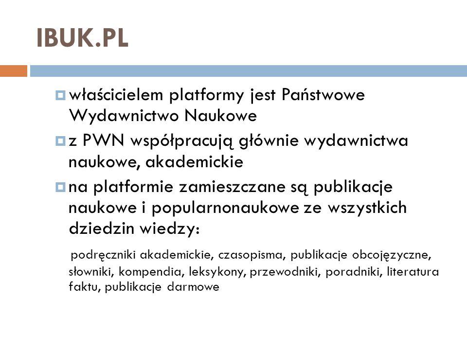 IBUK.PL Otworzyć stronę korpo.ibuk.pl Strona indywidualna ibuk.pl