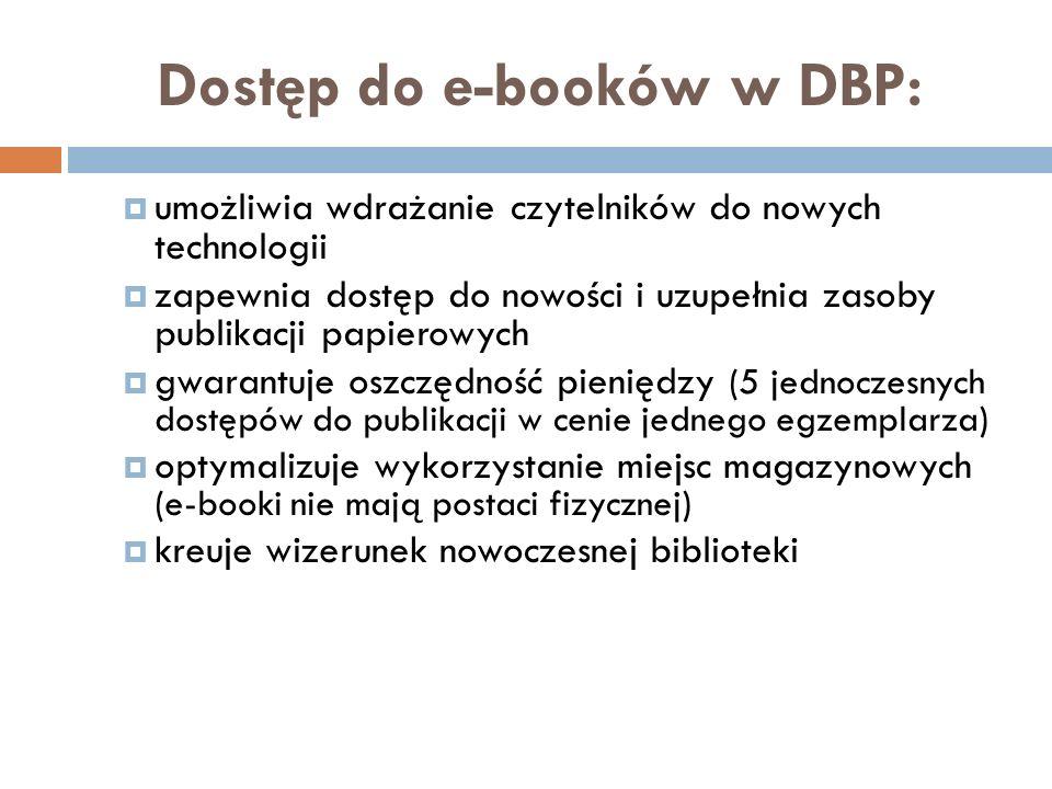 Dostęp do e-booków w DBP: