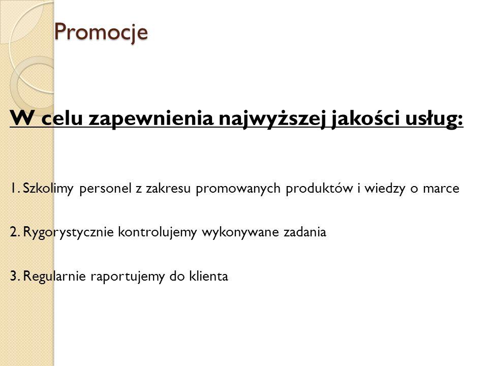 Promocje W celu zapewnienia najwyższej jakości usług: