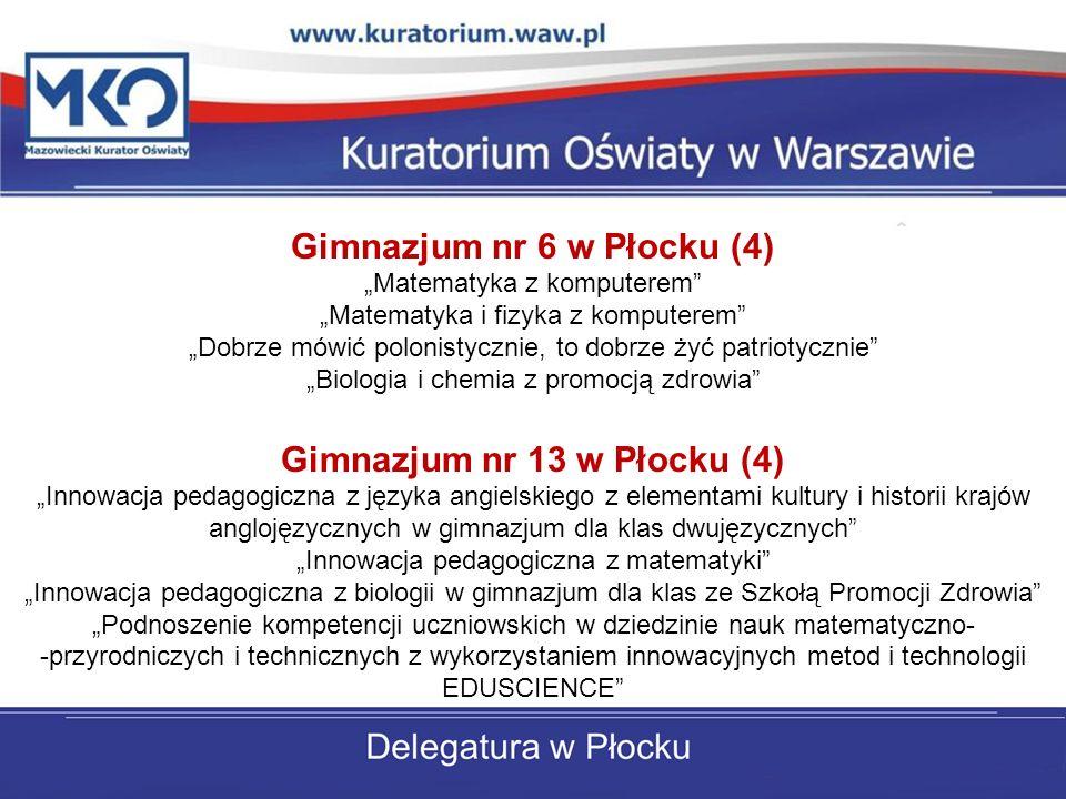 Gimnazjum nr 6 w Płocku (4) Gimnazjum nr 13 w Płocku (4)