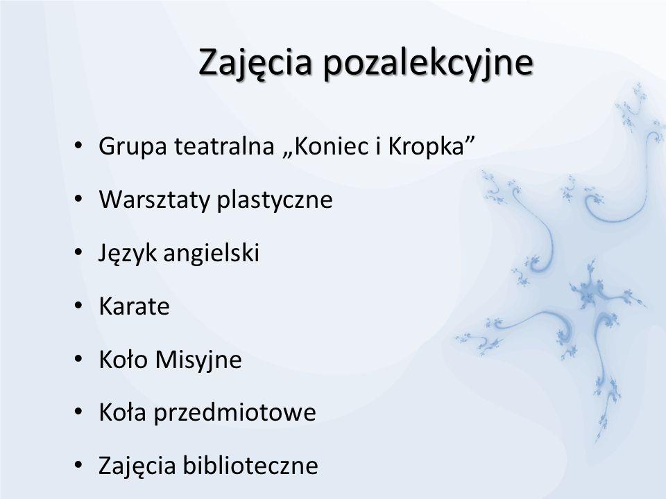 """Zajęcia pozalekcyjne Grupa teatralna """"Koniec i Kropka"""