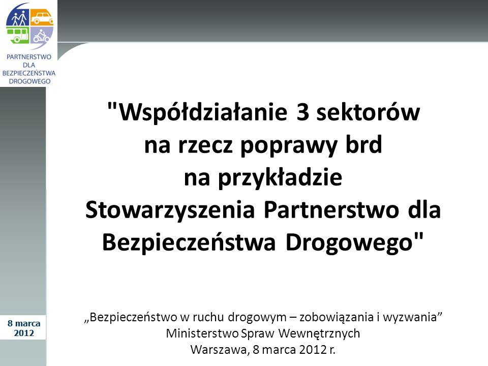 Współdziałanie 3 sektorów na rzecz poprawy brd na przykładzie Stowarzyszenia Partnerstwo dla Bezpieczeństwa Drogowego