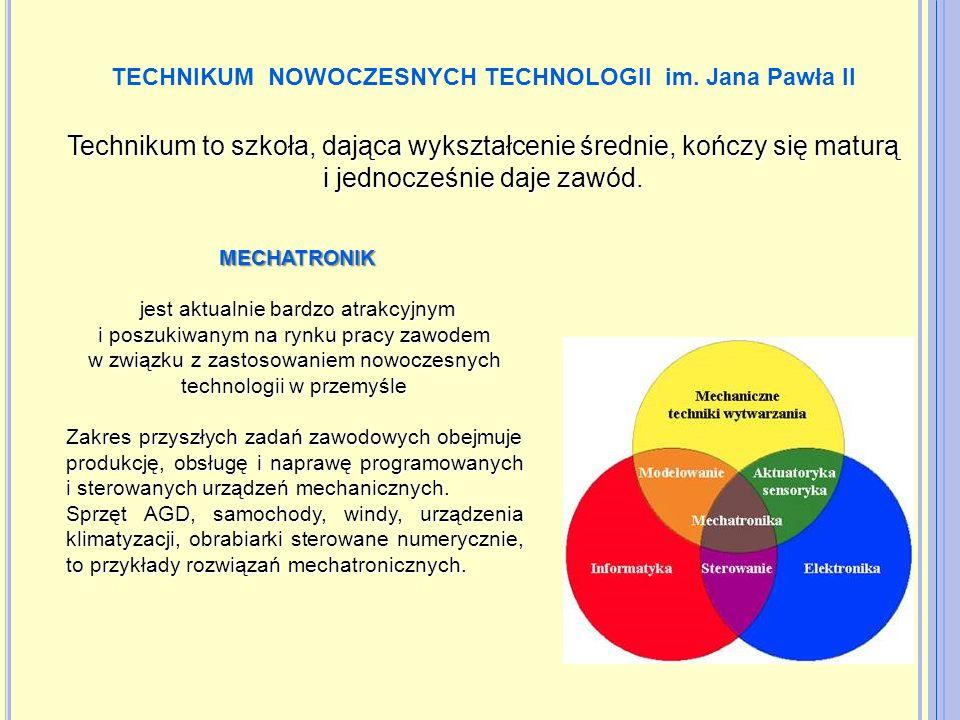 TECHNIKUM NOWOCZESNYCH TECHNOLOGII im. Jana Pawła II