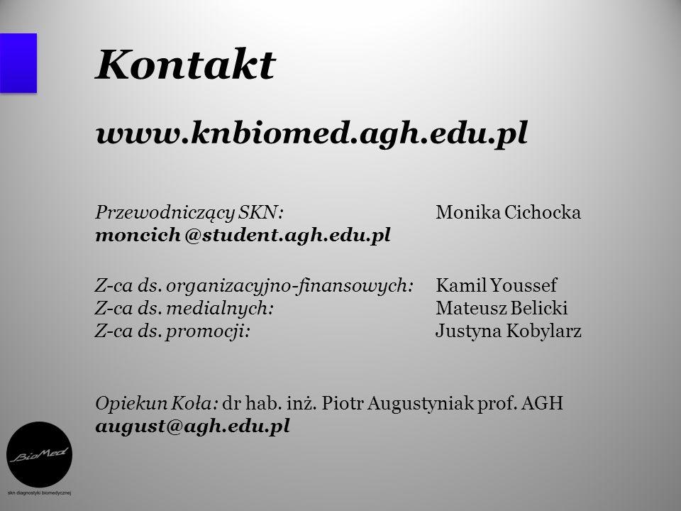 Kontakt www.knbiomed.agh.edu.pl
