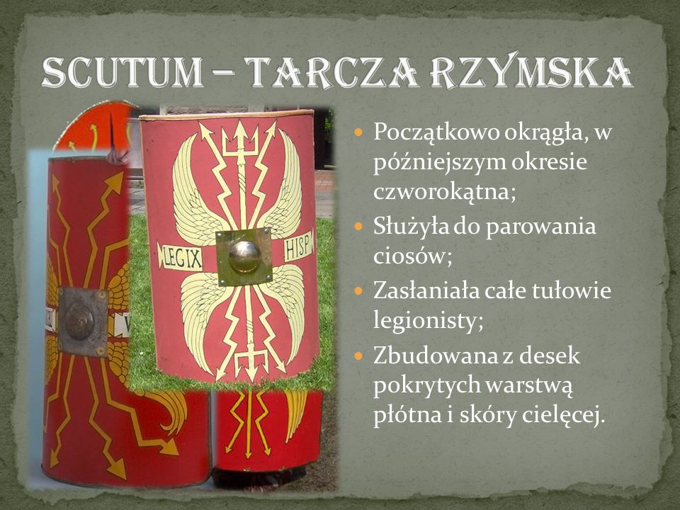 SCUTUM – TARCZA RZYMSKA