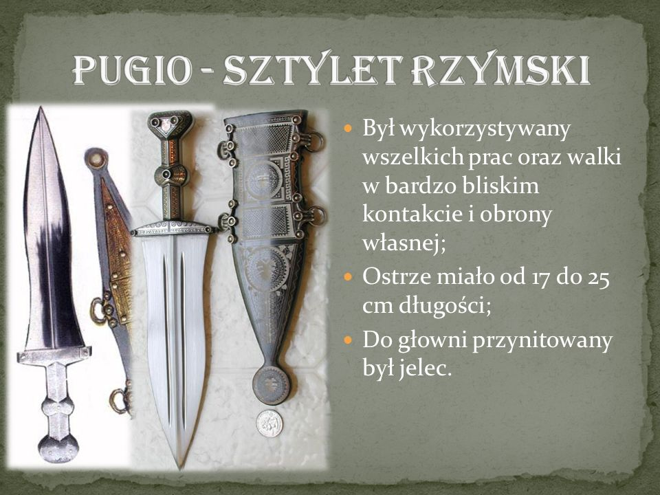 Pugio - sztylet rzymski