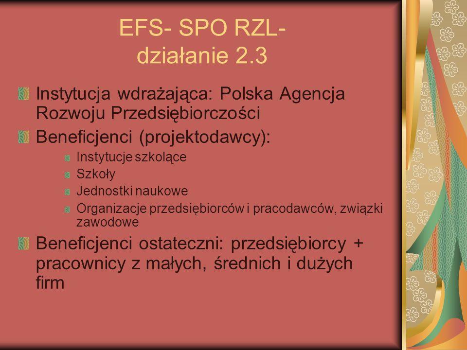 EFS- SPO RZL- działanie 2.3
