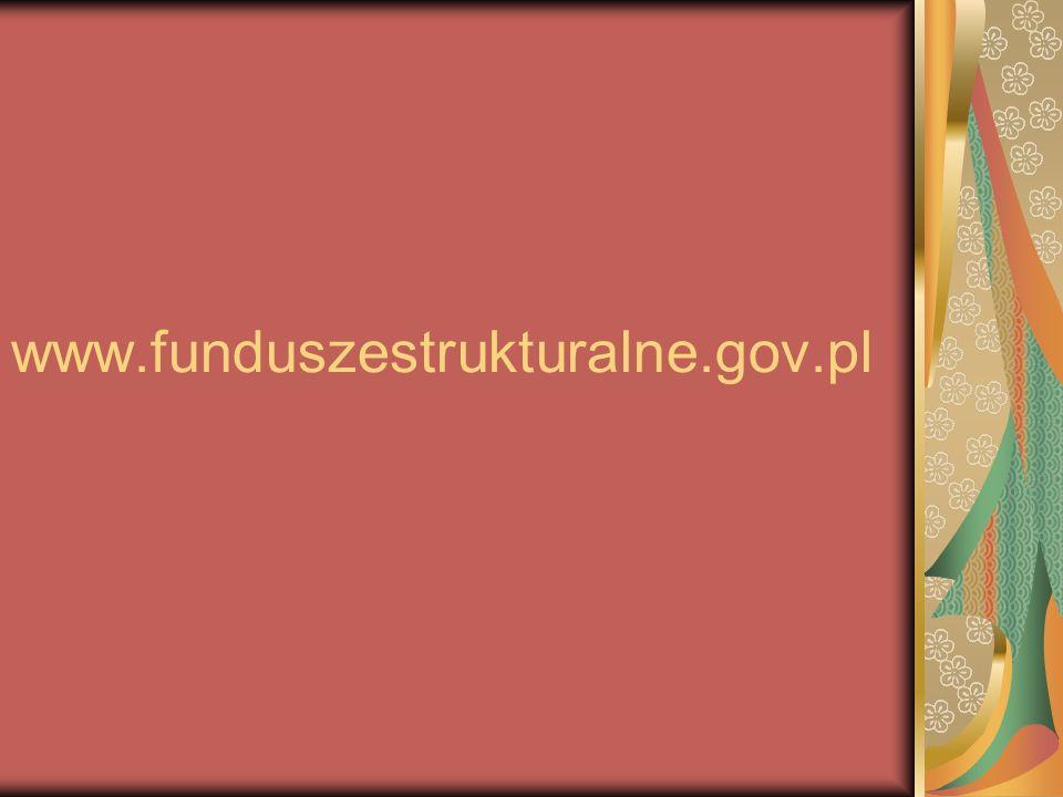 www.funduszestrukturalne.gov.pl