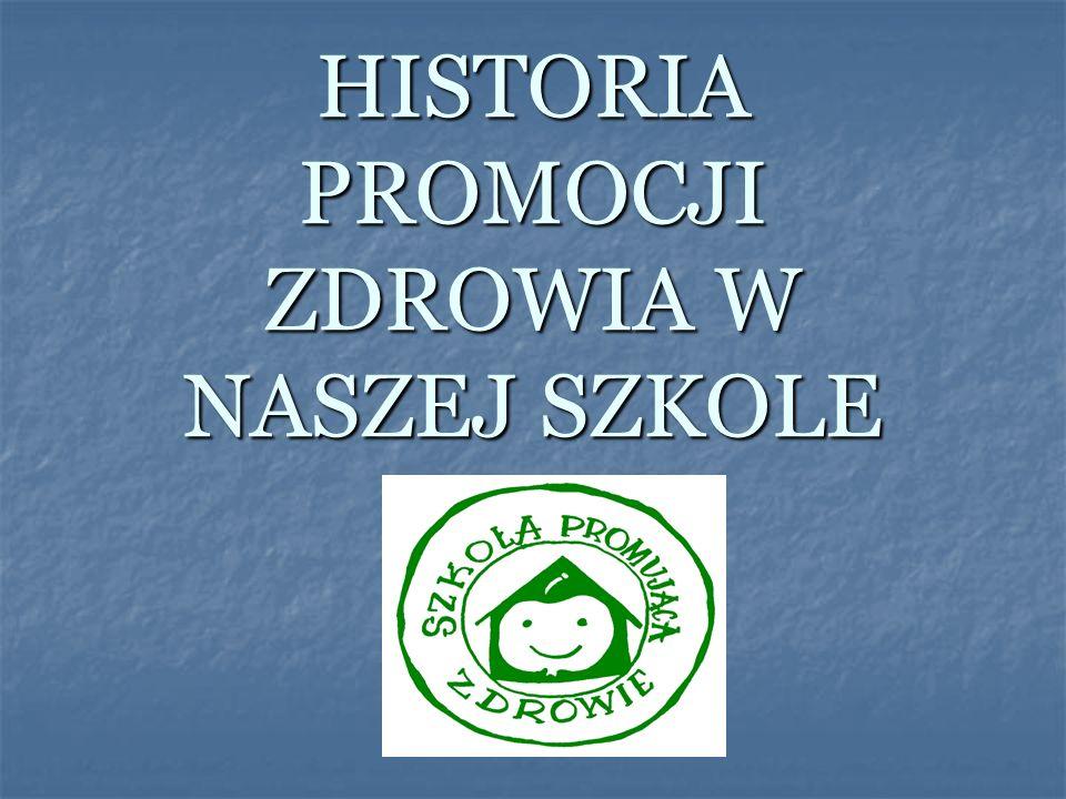 HISTORIA PROMOCJI ZDROWIA W NASZEJ SZKOLE