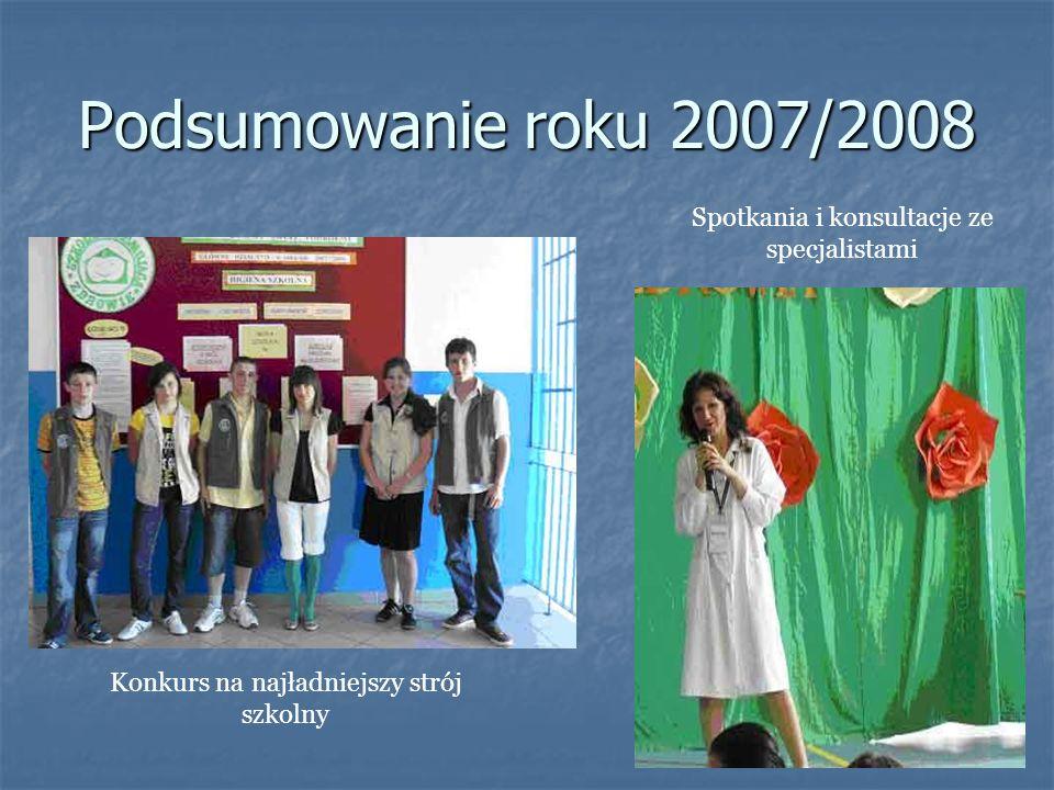 Podsumowanie roku 2007/2008 Spotkania i konsultacje ze specjalistami