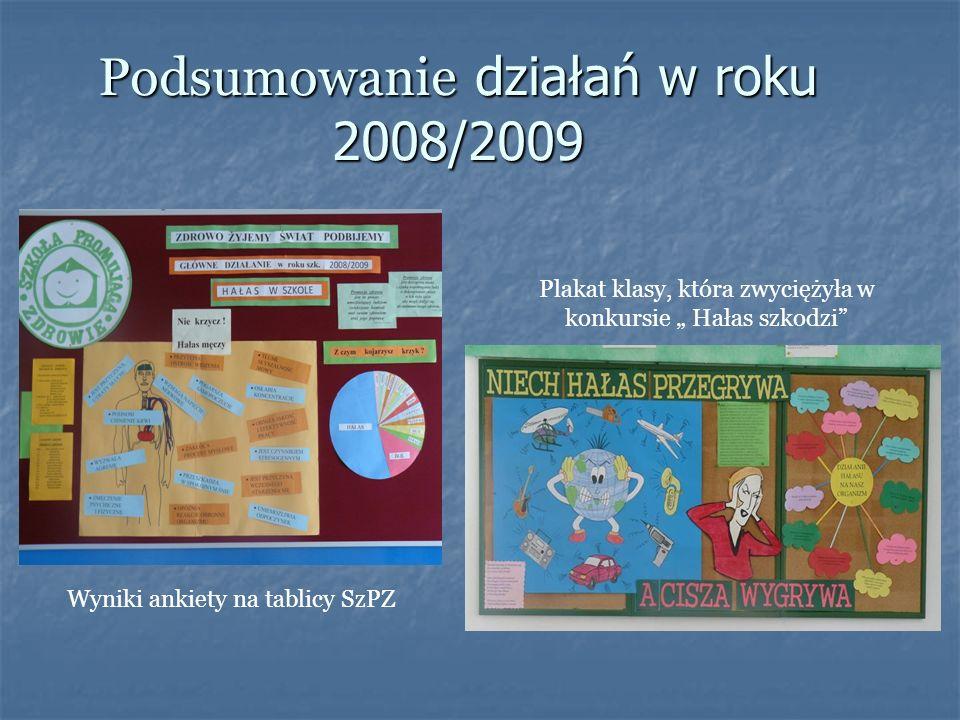Podsumowanie działań w roku 2008/2009