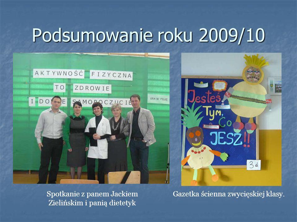 Podsumowanie roku 2009/10 Spotkanie z panem Jackiem Zielińskim i panią dietetyk.