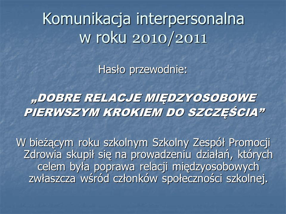 Komunikacja interpersonalna w roku 2010/2011