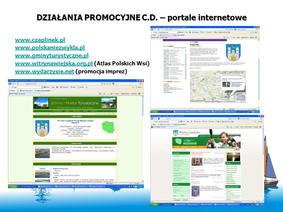 DZIAŁANIA PROMOCYJNE C.D. – portale internetowe