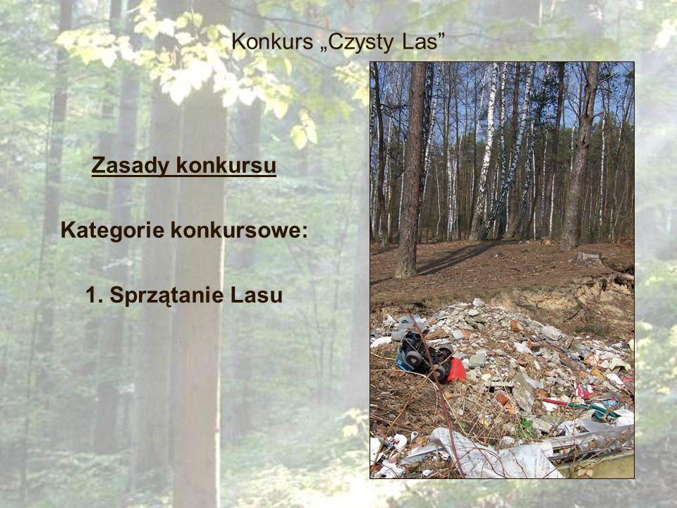 Zasady konkursu Kategorie konkursowe: 1. Sprzątanie Lasu