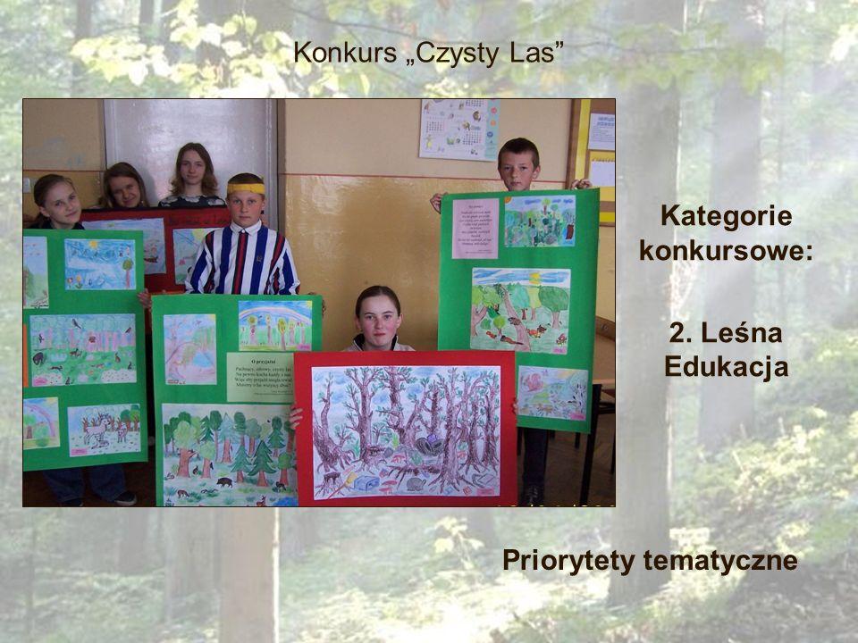 Kategorie konkursowe: 2. Leśna Edukacja