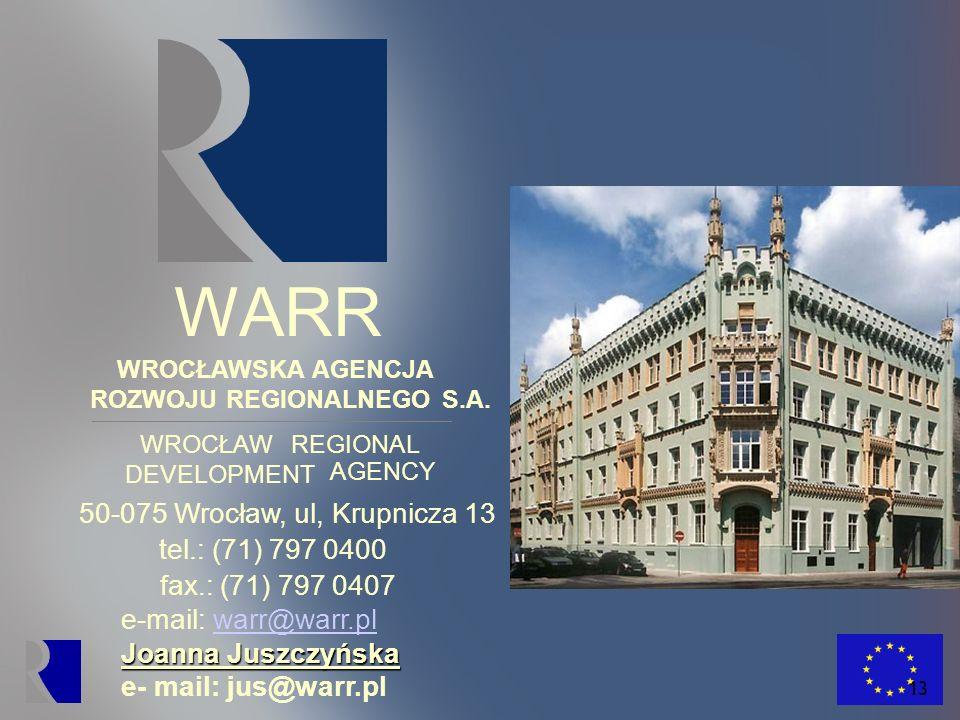 WARR 50-075 Wrocław, ul, Krupnicza 13 tel.: (71) 797 0400