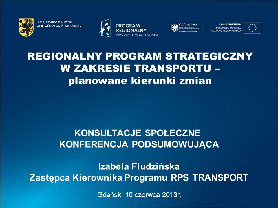 REGIONALNY PROGRAM STRATEGICZNY W ZAKRESIE TRANSPORTU –