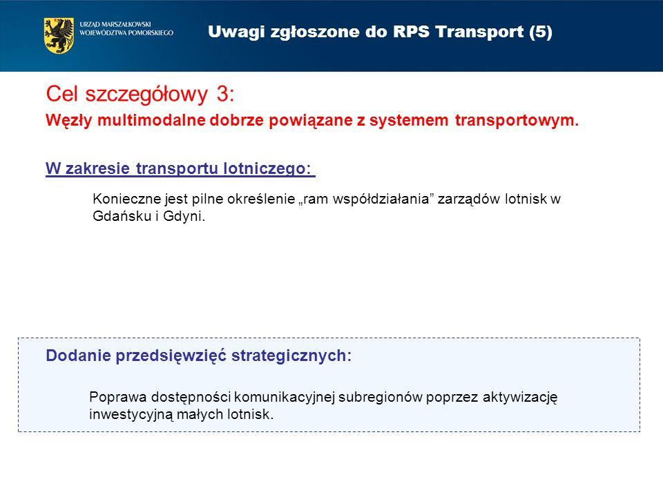 Uwagi zgłoszone do RPS Transport (5)
