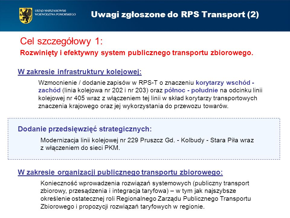 Uwagi zgłoszone do RPS Transport (2)