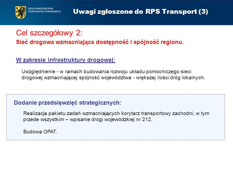Uwagi zgłoszone do RPS Transport (3)