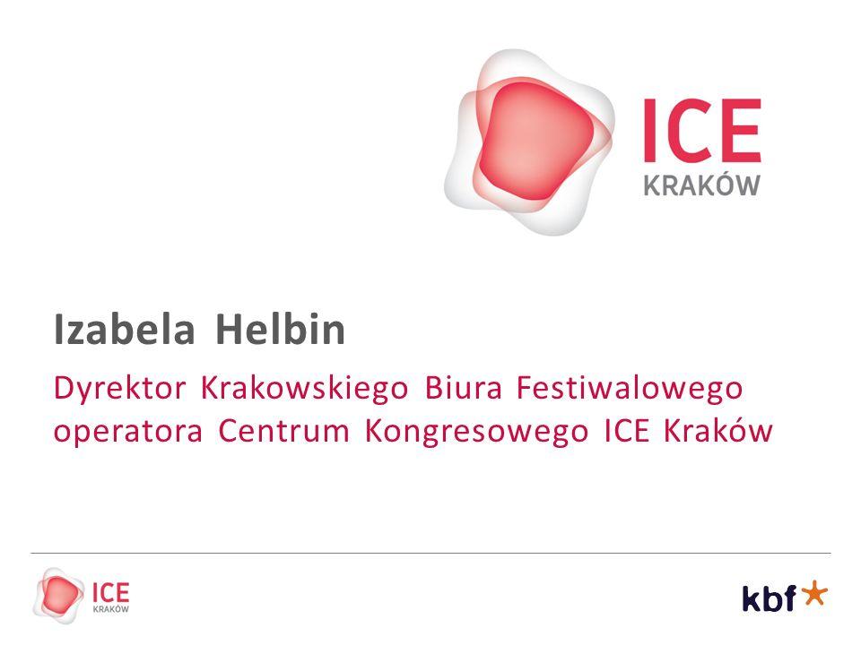 Izabela Helbin Dyrektor Krakowskiego Biura Festiwalowego operatora Centrum Kongresowego ICE Kraków