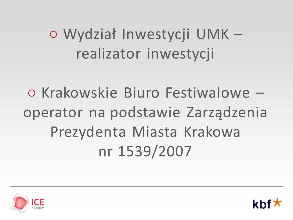 ○ Wydział Inwestycji UMK – realizator inwestycji
