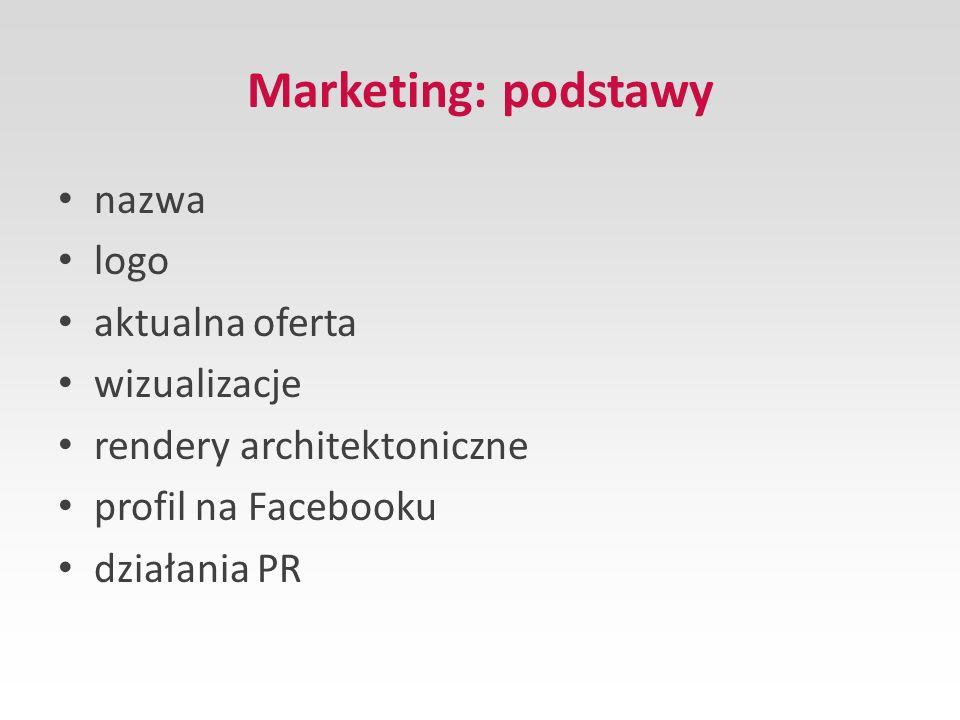 Marketing: podstawy nazwa logo aktualna oferta wizualizacje