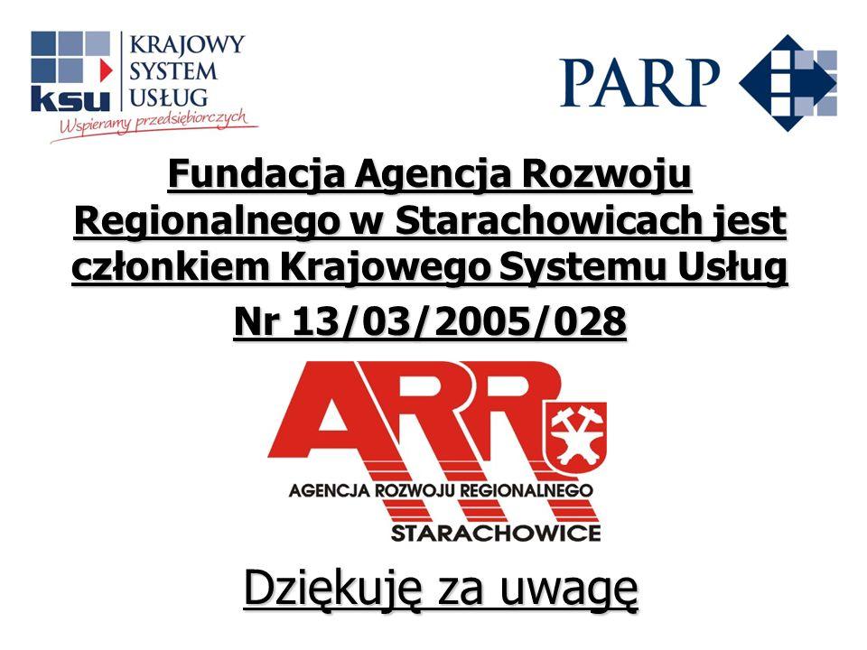Fundacja Agencja Rozwoju Regionalnego w Starachowicach jest członkiem Krajowego Systemu Usług