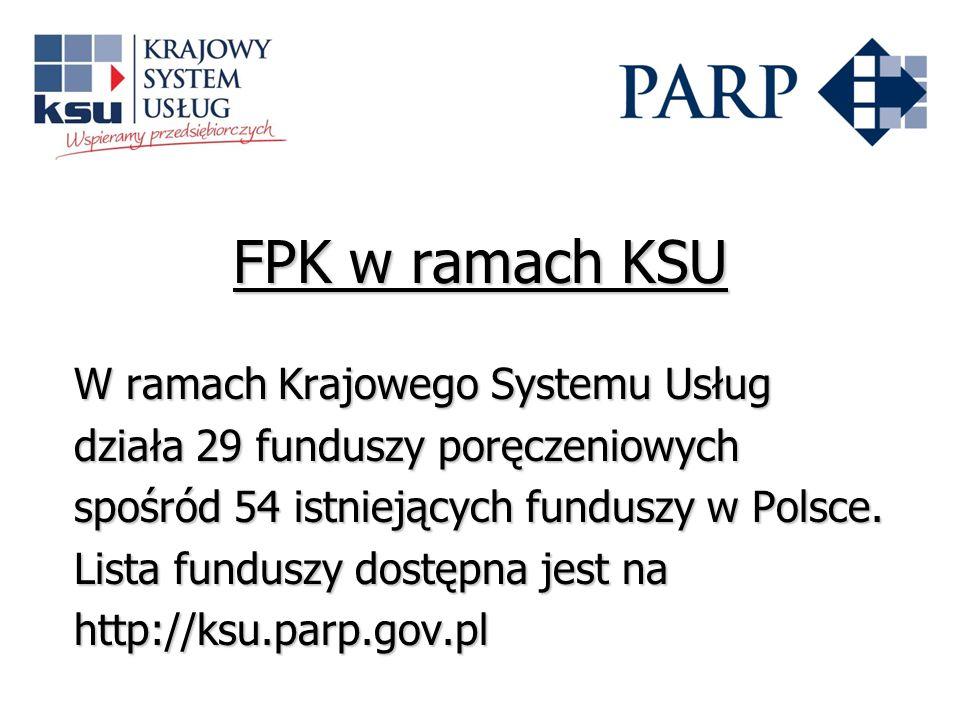 FPK w ramach KSU W ramach Krajowego Systemu Usług