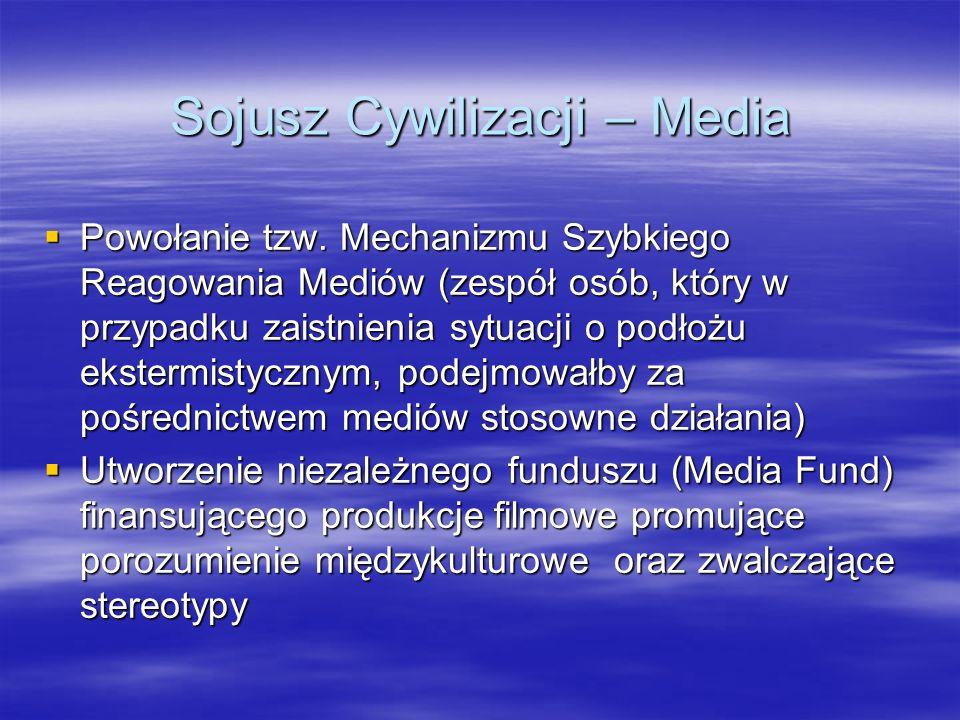 Sojusz Cywilizacji – Media