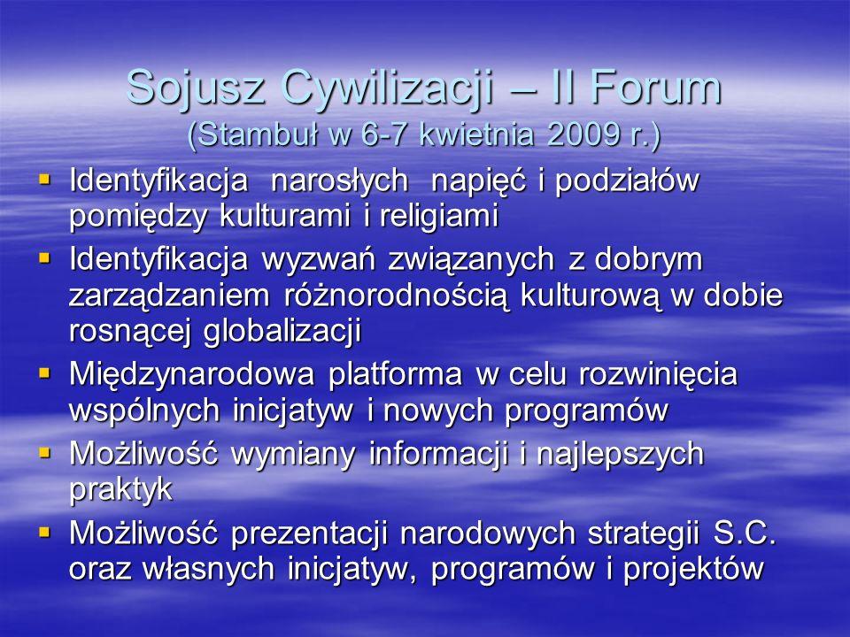 Sojusz Cywilizacji – II Forum (Stambuł w 6-7 kwietnia 2009 r.)