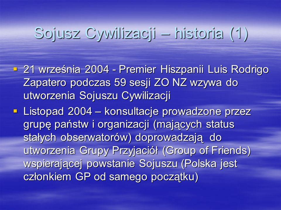 Sojusz Cywilizacji – historia (1)
