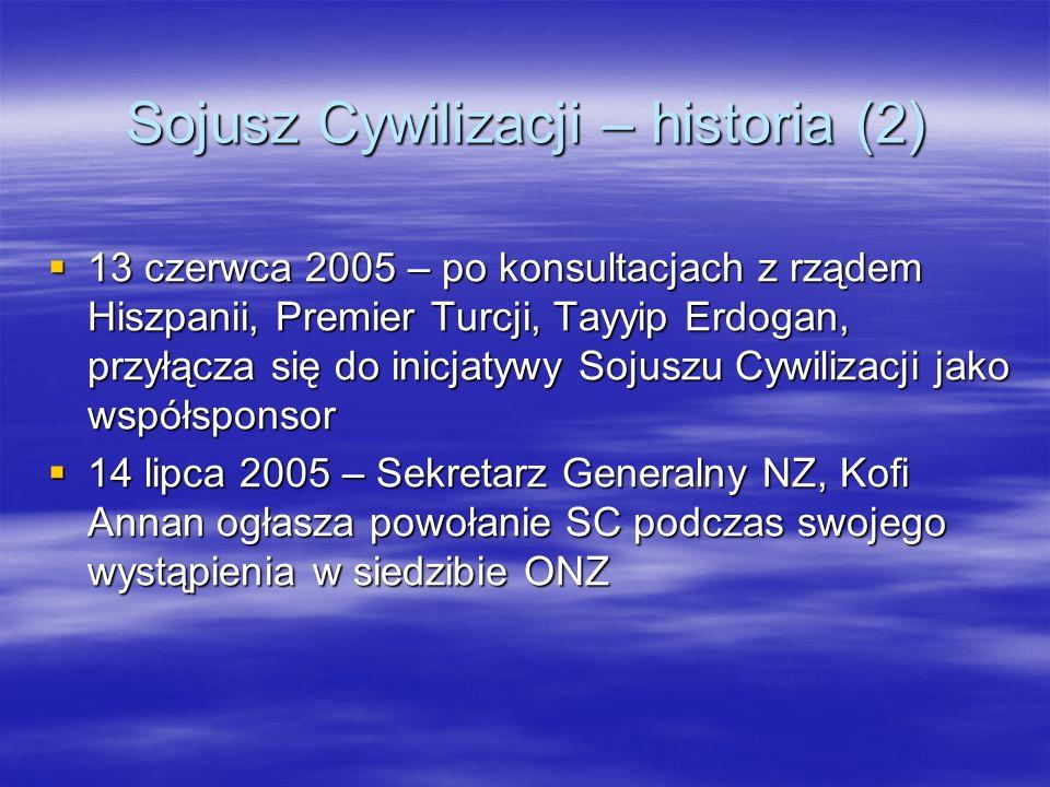 Sojusz Cywilizacji – historia (2)