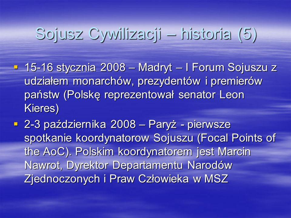 Sojusz Cywilizacji – historia (5)