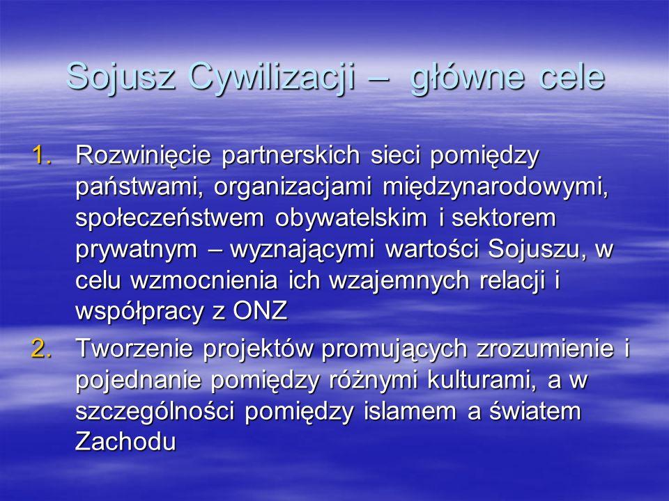 Sojusz Cywilizacji – główne cele