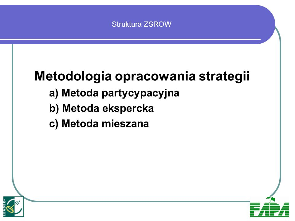 Metodologia opracowania strategii