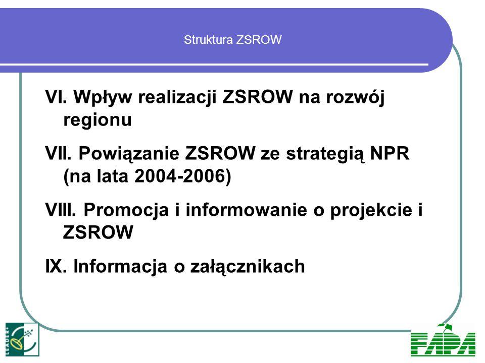 VI. Wpływ realizacji ZSROW na rozwój regionu
