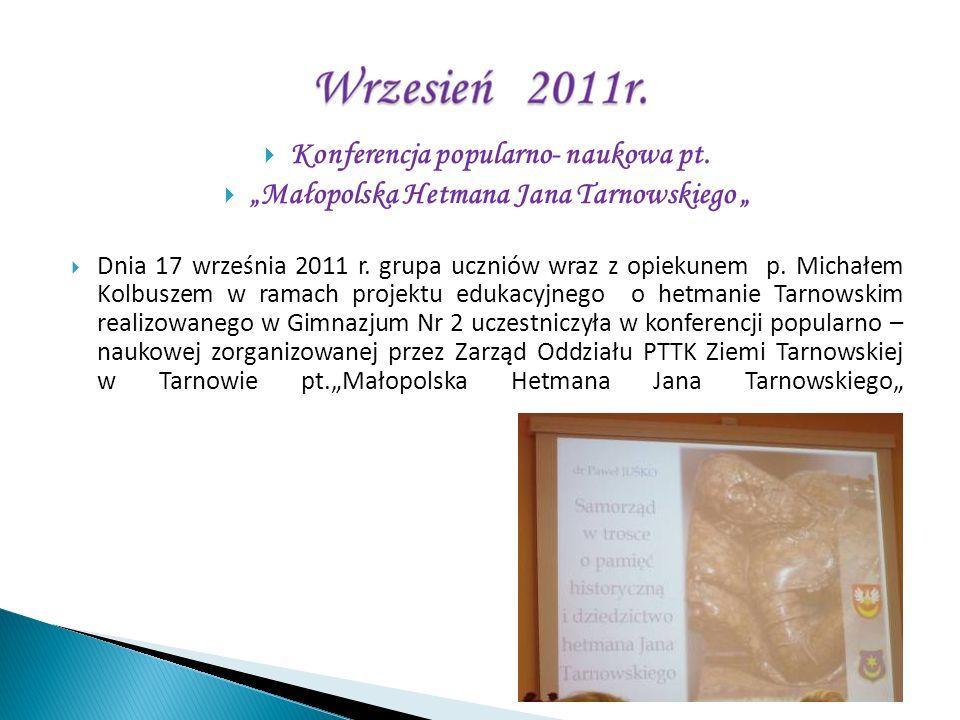 Konferencja popularno- naukowa pt.