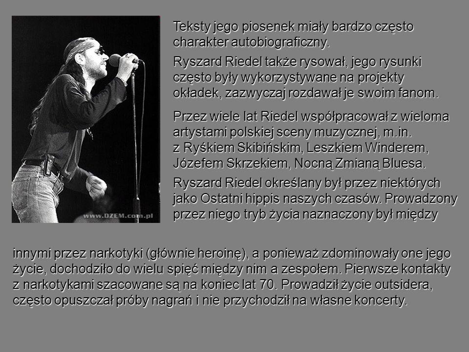 Teksty jego piosenek miały bardzo często