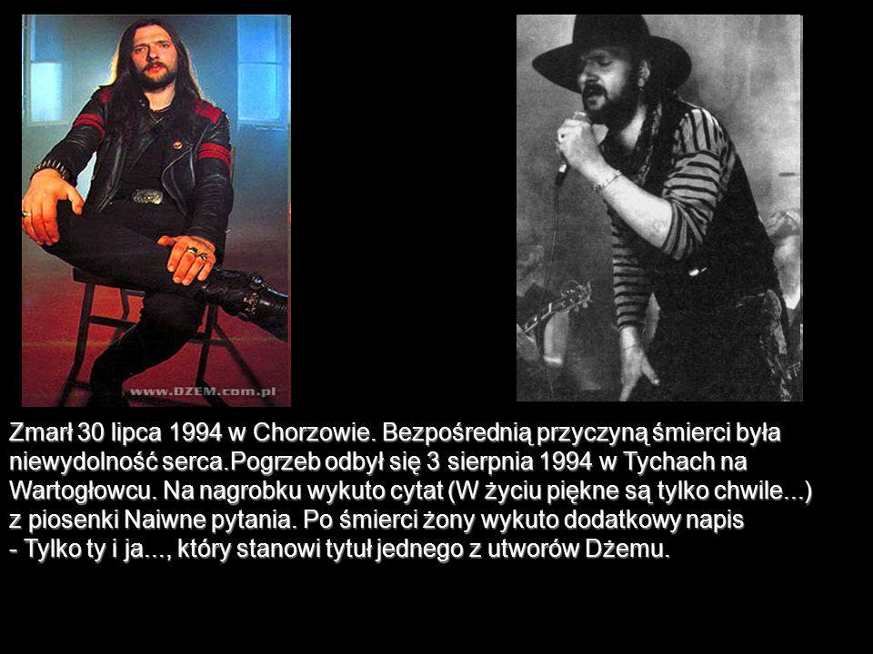 Zmarł 30 lipca 1994 w Chorzowie