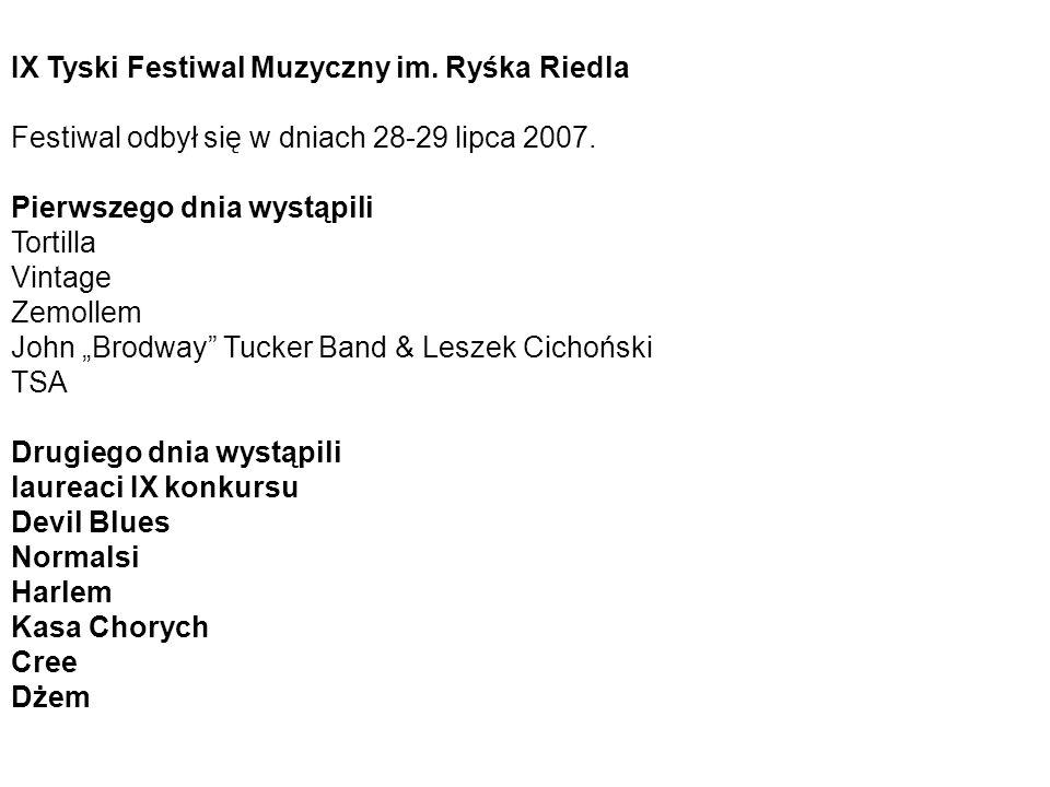 IX Tyski Festiwal Muzyczny im. Ryśka Riedla