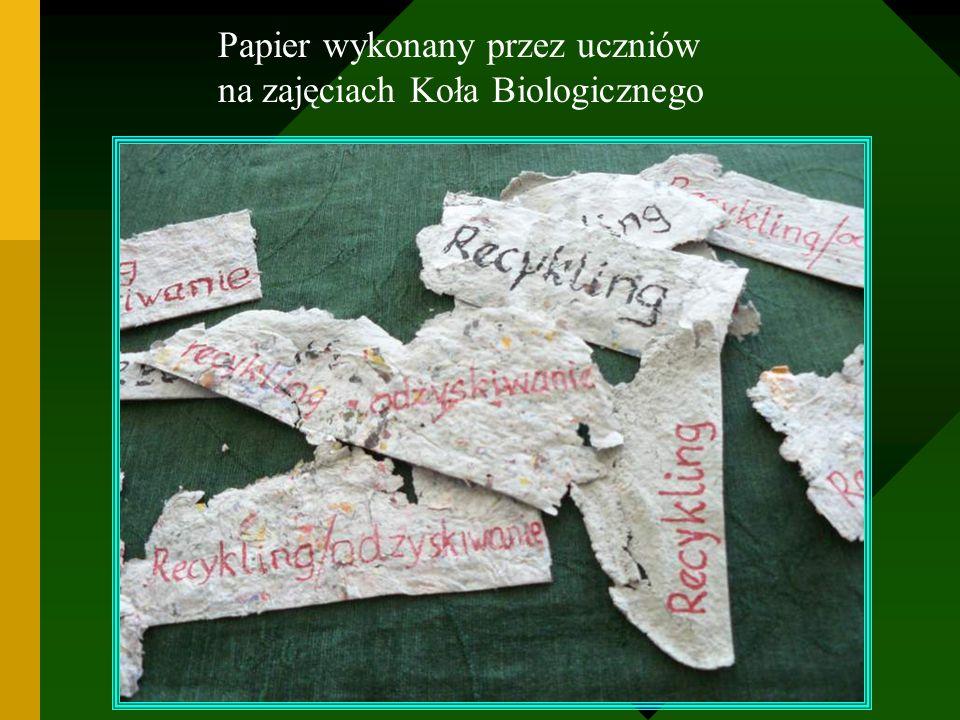 Papier wykonany przez uczniów