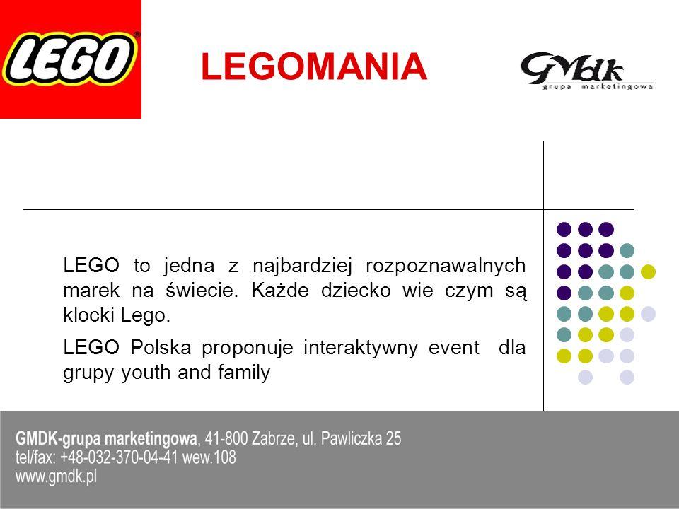 LEGOMANIA LEGO to jedna z najbardziej rozpoznawalnych marek na świecie. Każde dziecko wie czym są klocki Lego.